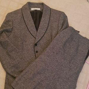 2 piece grey suit